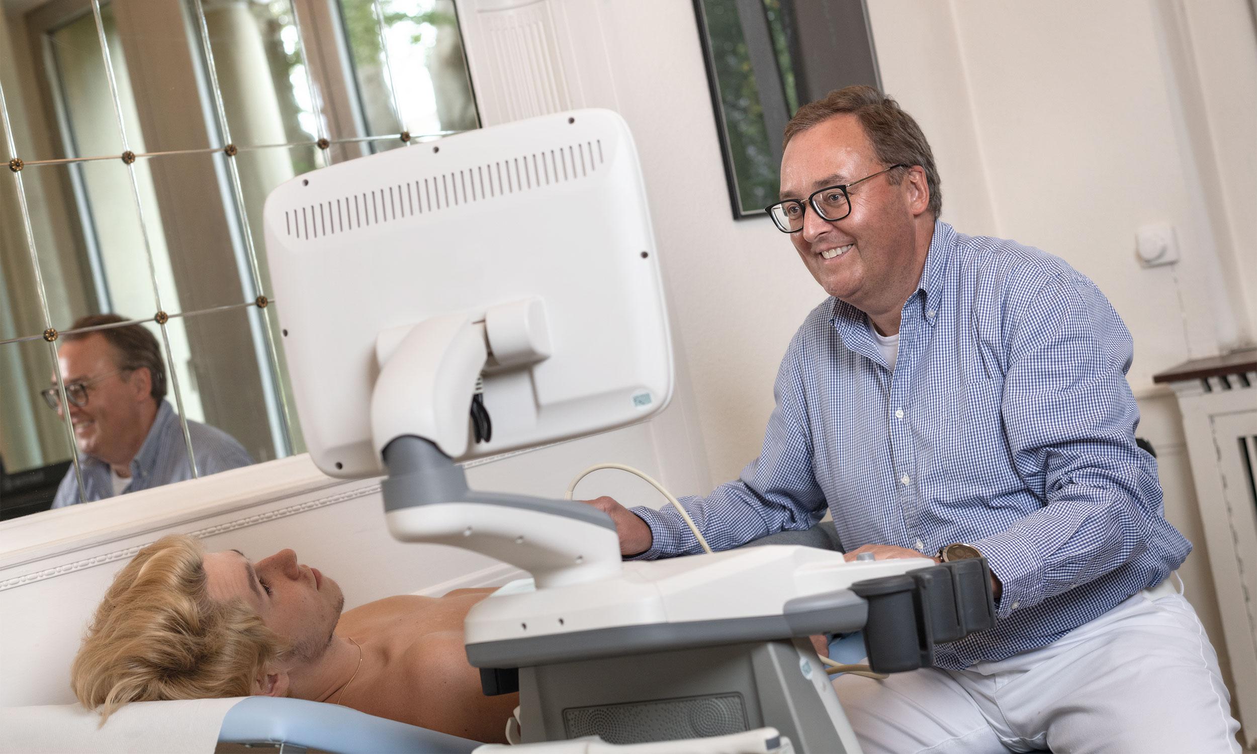 Detailaufnahme eines Ultraschallgerätes - Ihr Urologe in Solingen
